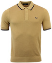 FRED PERRY RETRO MOD 60S TIPPED KNITTED POLO