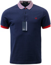 FRED PERRY RETRO INDIE MOD STRIPED COLLAR POLO