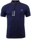 FRED PERRY RETRO INDIE MOD SHOULDER STRIPE POLO