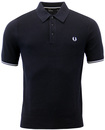 FRED PERRY RETRO 60S MOD TEXTURED KNITTED POLO