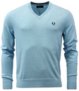 FRED PERRY RETRO INDIE KNITTED V-NECK SWEATER
