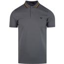Bomber Stripe FRED PERRY Pique Mod Polo Shirt LEAD