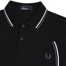 FRED PERRY M3600 Men's Twin Tipped Polo B/W/G