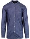 french connection loose fit denim grandad shirt