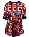 Annette FRIDAY ON MY MIND 60s Mod Geometric Dress