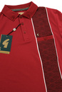 GABICCI VINTAGE Retro 1960s Mod Stripe Panel Polo