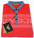 McCartney GABICCI VINTAGE Fair Isle Print Polo R