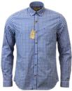 GIBSON LONDON RETRO MOD BUTTON UNDER GINGHAM SHIRT