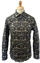 GIBSON LONDON Eddie Liberty Print Retro Mod Shirt