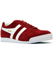 GOLA HARRIER PREMIUM SUEDE RETRO TRAINERS RED