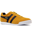 GOLA HARRIER PREMIUM SUEDE RETRO TRAINERS YELLOW