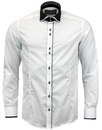 GUIDE LONDON RETRO MICRO DOT DOUBLE COLLAR SHIRT
