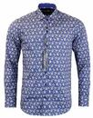 GUIDE LONDON Retro Mod Psychedelic Paisley Shirt