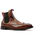 H BY HUDSON BRESLIN RETRO MOD BROGUE CHELSEA BOOTS