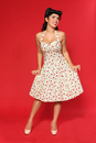 HEARTBREAKER SWEETIE HALTER NECK DRESS RETRO 50s