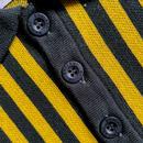 Firebird MADCAP ENGLAND Mod Waffle Stripe Polo