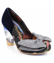 IRREGULAR CHOICE BOWTINA RETRO FLORAL HEELS