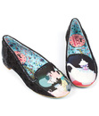 IRREGULAR CHOICE LITTLE MORE TEA RETRO FLATS