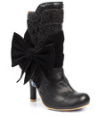 IRREGULAR CHOICE ROSIE LEAH RETRO HEEL BOOTS