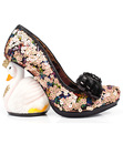 IRREGULAR CHOICE SAVAN RETRO SWAN SEQUIN HEELS