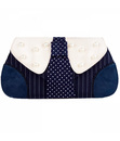 IRREGULAR CHOICE SUIT RETRO PINSTRIPE CLUTCH BAG