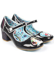 IRREGULAR CHOICE TICK TOCK RETRO SPARKLY HEELS