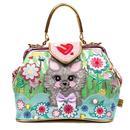 Here Kitty Kitty IRREGULAR CHOICE Floral Cat Bag