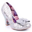 Irregular choice nick of time vintage silver heels