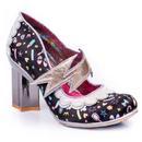 Irregular choice rainbow thunder lightning heels black