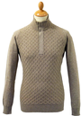 JOHN SMEDLEY ARTE RETRO CABLE KNIT SWEATER SIXTIES