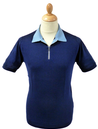 Filton JOHN SMEDLEY Zip Sports Collar Retro Polo