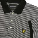 LYLE & SCOTT Feeder Stripe Retro Polo Top (Black)