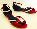 'Petal' - Retro Vintage Fifties Sandals by LACEYS