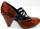 LACEYS Gump Retro Sixties Mod High Heel Shoes (C)