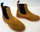 'Johnnie' - Womens Retro Mod Suede Chelsea Boots