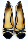 Rubina LACEYS Retro Sixties Mod Peep Toe Shoes N