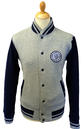 LAMBRETTA Mens Retro Indie Varsity Sweat Jacket