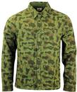 LEE RETRO INDIE MOD CAMOUFLAGE MILITARY OVERSHIRT