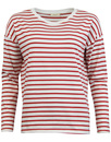 LEE womens Breton stripe tee red