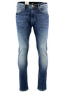 LEE LUKE RETRO INDIE MOD SLIM TAPERED JEANS BLUE
