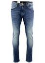 Luke LEE Retro Indie Mod Slim Tapered Denim Jeans