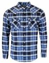 LEE RIDER RETRO SHIRT PLAID CHECK NAVY