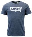 LEVI'S® Retro Mod Indie Batwing Logo T-Shirt Blue