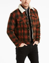 LEVIS RETRO CHECK TYPE 3 SHERPA TRUCKER JACKET