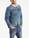LEVIS RETRO DENIM TYPE 3 SHERPA TRUCKER JACKET