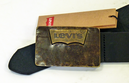 LEVI'S® Retro Gold Batwing Buckle Mod Leather Belt