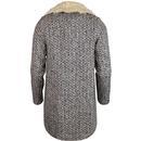 Alameda LOUCHE Retro Fur Collar Coat Cream & Black