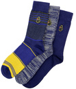 LUKE 1977 SEVERN RETRO 3 PACK SOCKS GIFT SET
