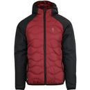 Luke roundy quilted jacket black red