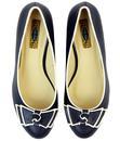 Elisa LULU HUN Retro 1960s Vintage Mid Wedges Navy